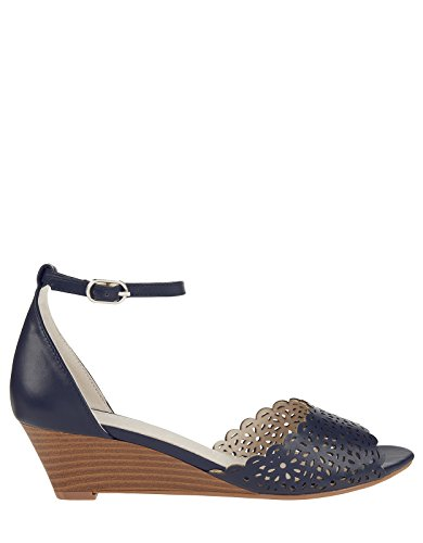 Monsoon Zahra Mini-Wedge-Sandalen mit Durchbrechung Marineblau