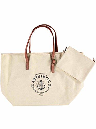 FRAAS Strandtasche Handtasche Badetasche, 24 x 39 cm, Baumwolle Creme