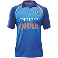 Camiseta KD del equipo de India de críquet ODI, 2017-18, color Full Sleeve 2018 Plain, tamaño 34""