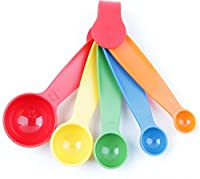 5 PCs Multi Color Measuring Spoons Kitchen Spoon
