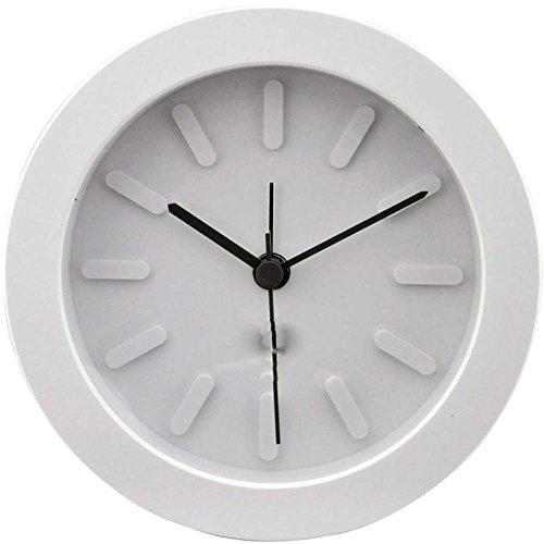 KHSKX Moda semplice piccolo orologio, allievi dei bambini orologio sul comodino, creativo camera da letto sveglia, Snooze posta pacchetto pigro orologio , s-165 elegant white