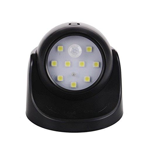 Bewegungsmelder 360 ¡ã Nachtlicht, Minkoll 9 LED Lampe Bewegung ACtivated Schnurlose Sensor Licht f¨¹r Home Outdoor Garten Wand Patio Schuppen (BlACk)