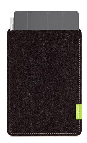 WildTech Sleeve für Apple iPad Pro 10.5 geeignet für Smart Cover Hülle Tasche aus echtem Wollfilz (Handmade in Germany) - Anthrazit