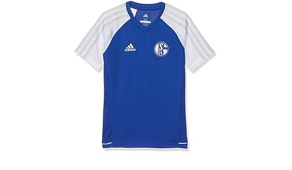 Adidas Fußball FC Schalke 04 S04 Trainingstrikot Kinder blau weiß Fußball-Trikots