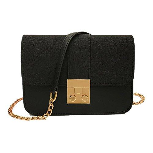 Kangrunmy borsa donna colore puro messenger borse tracolla borse tracolla donna estive borse tracolla donna elegante (nero)