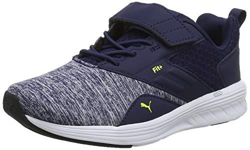 Puma Unisex-Kinder NRGY Comet V PS Sneaker, Blau (Peacoat-Blazing Yellow), 33 EU