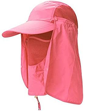 Esterno Sole Cappello Pescatore Devils Cappello Tutto L'asciugatura Rapida Cappello Da Sole UV Di Guida,Red-AllCode
