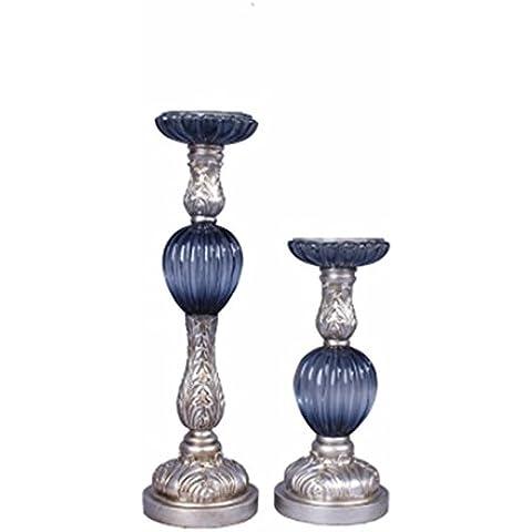 In stile europeo Vintage candelieri in resina ornamenti,Agata Azzurra imitazione dimensioni
