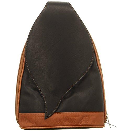 EASTLINE , Sac à main porté au dos pour femme noir noir marrón