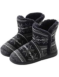 Mocasines de Pareja Zapatillas de Casa para Mujer/Hombres Forro Cálido Zapatos Casuales Zapatillas de