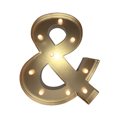 12inch 4 Colors LED Letter Light Vintage Circus Style Alphabet Light Up Sign & - silver , 13 IN