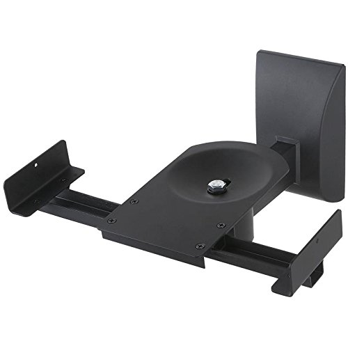 TradeMount 2 Stück Boxenhalter Wandhalterung Alu 15° neigbar 360° drehbar für Boxen mit 135 mm bis 280 mm