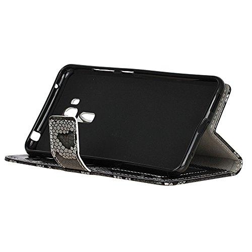 Voguecase® für Apple iPhone 7 4.7 hülle,(Gelb Leopard) Kunstleder Tasche PU Schutzhülle Tasche Leder Brieftasche Hülle Case Cover + Gratis Universal Eingabestift Nashorn Muster 3/Silber
