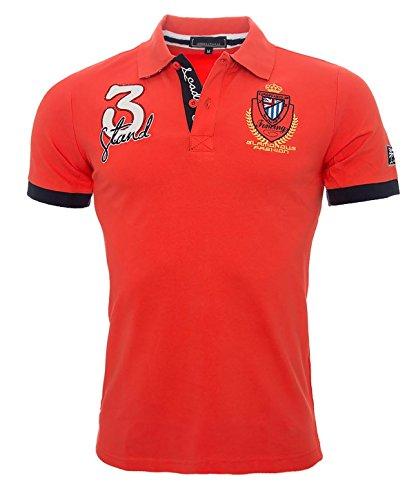 Herren Polo Shirt Kurzarm Sommer Herren Hemd England S-3XL [H-038 Orange Gr. M]