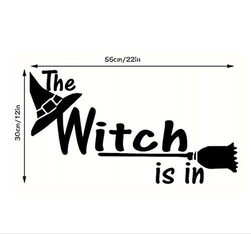 Zxfcczxf Halloween Buchstaben Wandaufkleber Fenster WohnkulturDekor Hexe Halloween Design Diy Pvc Wand S Wandaufkleber (Halloween Buchstaben S)