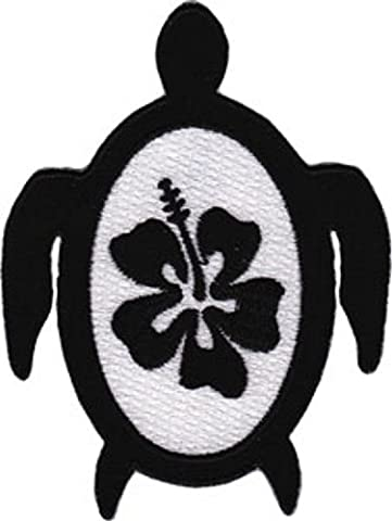 Patch - Animals - Turtle With Hibiscus Iron On Gifts New Licensed p-3665