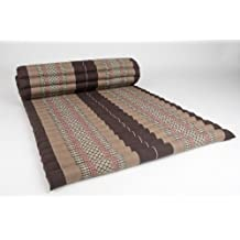 Leewadee - Alfombra tipo tailands, enrollable (200 x 76 cm), color marrn