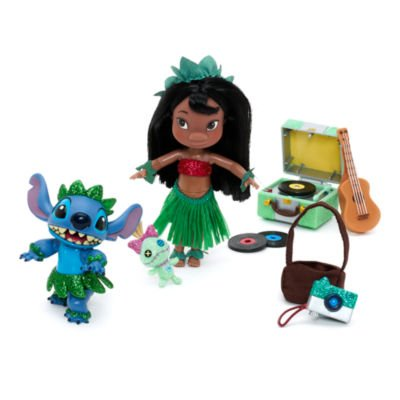 Lilo-Stitch-Mini-Animator-Doll-Playset-includes-a-5-mini-Lilo-doll-a-hula-dancing-Stitch-figurine-and-various-accessories