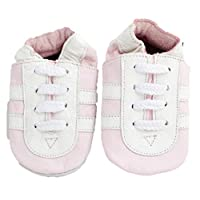Soft Leather Baby Shoes Pink Trainers