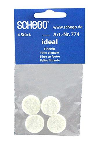 Schego 774 Filterfilz für Membranpumpe Ideal, 4 Stück Preisvergleich