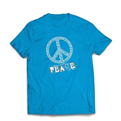 st Du Stück von Mir - Frieden Slogan, 60er 70er Hippie - Hippie Festivals, Hipster Swag (Medium Blau Mehrfarben) (Musik Motto Party Kostüme)