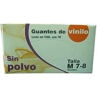 GUANTES DE VINILO SIN POLVO Talla M 10Cajas+100u pack (1000u).Indicado