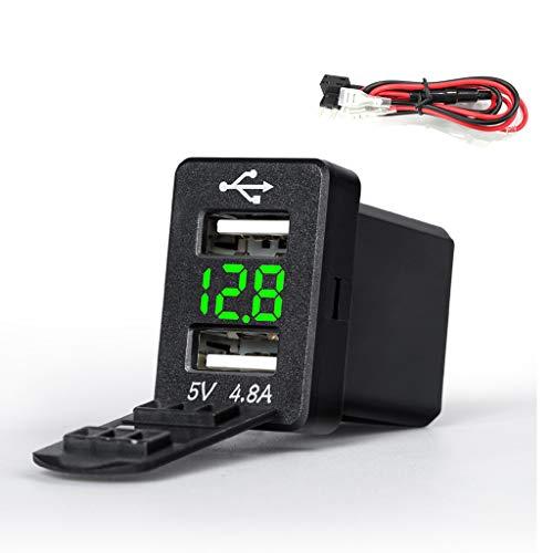12 Doppel-draht (JENOR 12V Doppel-USB-Adapter Des Auto-Ladegerät-LED Voltmeter 4.8A Für Toyota-intelligentes Telefon)