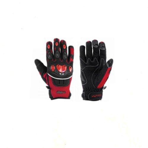 A-pro Handschuhe Textil Motorrad Knoechel Schutz Sommer Racing MotoCross Quad MX Rot L