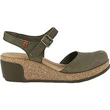 7ef24a6e3f scarpe con zeppa - Verde - Amazon.it