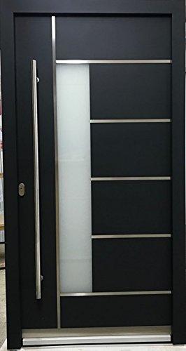 Innendr/ücker von Online-Fenster-Kaufen Aluminium Haust/ür AR-G 05//68 68 mm anthrazit Energiesparhaust/ür mit Edelstahl-Sto/ßgriff rund 1600 mm 1100mmx2100mm DIN links