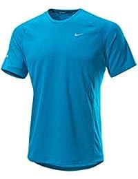 Nike - Camiseta de running para hombre, tamaño L, color neo turq/reflective