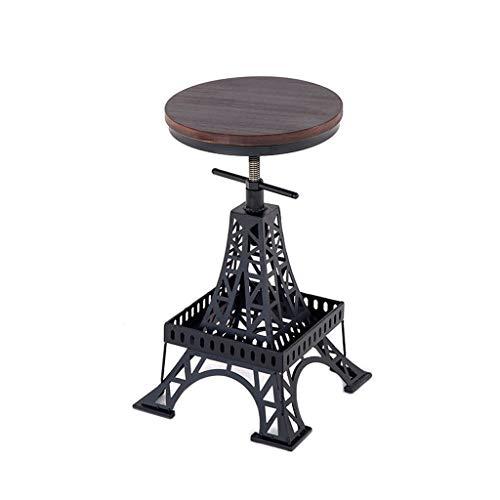 Paris Bar Stuhl (XUANLAN Schmiedeeisen Holz Barhocker Stuhl Anpassung Stuhl Paris Tower Hocker Industriellen Wind Kreative Stuhl Moderne Cafe Bar Stuhl)