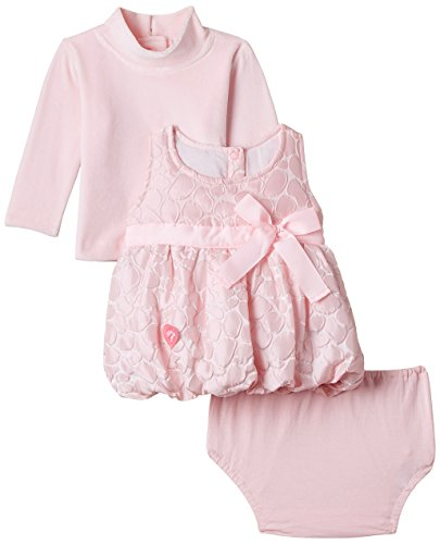 Little Kangaroos Baby Girls' Dress (3803 PINK_Pink_S)