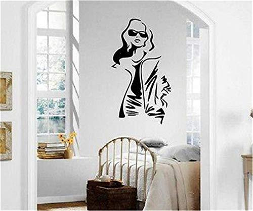 Wandtattoo Wohnzimmer Sexy Mädchen beim Brillenmode-Art-Einkaufen
