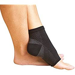 DALUCI All-Day Compression Socks for Plantar Fasciitis Pain relief Ankle Support (1 Pair) (Medium)