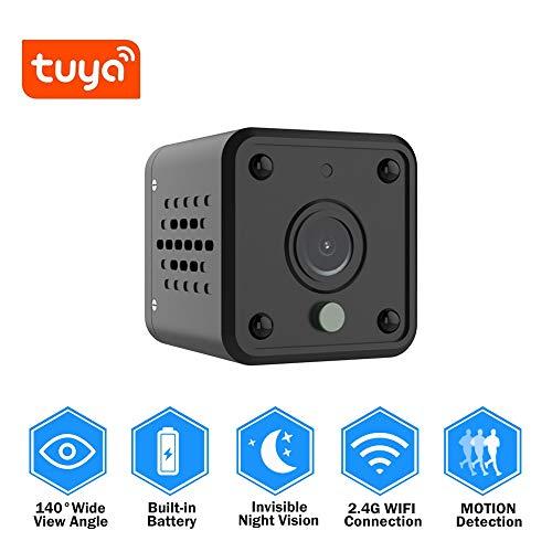 Preisvergleich Produktbild Überwachungskamera Tuya WiFi Kamera 1080P Smart Home Security Baby Monitor 140 Grad Weitwinkel Wireless Mini Ip Kamera Eingebaute Batterie Ipcam Kamera Hinzufügen Von 64Gb Sd