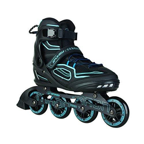 Spokey Kinder und Erwachsene Inline Skates mit verschleißfesten Rädern und widerstandfähigen Bremsklötzen, Taron - Blau, 46