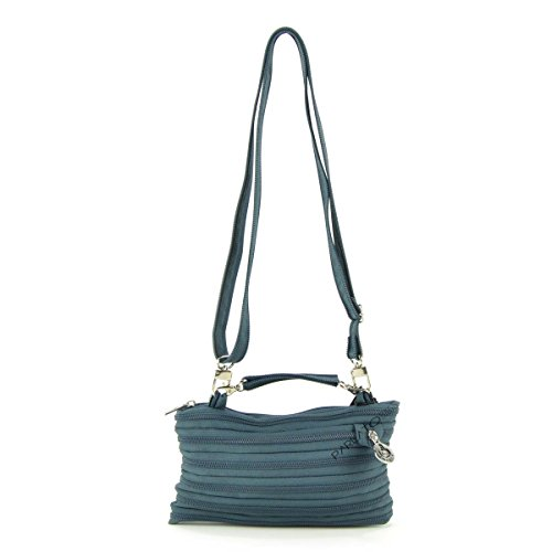 GHOSTZIP® Made in Italy, Borsa a tracolla donna Grigio