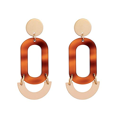 ZHWM Ohrringe Ohrstecker Ohrhänger Geometrische Harz Ohrringe Unique Fashion Dangling Statement Ohrringe Custome Schmuck Für Frauen Mädchen Geschenk Zubehör