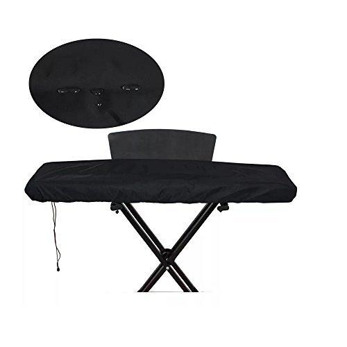 Wishing Elektronische Klavier Abdeckung Staubschutz Keyboard Schutzhülle Wasserdicht und Staubdicht 52.75x11,81x 5.7 inch- für 88 Tasten Klaviertastatur Schwarz