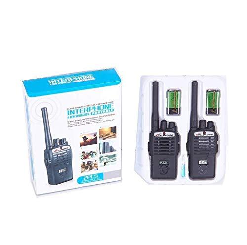 Interphone Walkie Talkie Set for Kids, Black