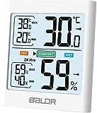 SINZON Thermomètre Hygromètre Intérieur, Température Humidité Électronique, ℃/℉Commutable, Mémoire de Max/Min, Écran de Détection, Lumière de Fond, Indication de Confort Coloré-Blanc