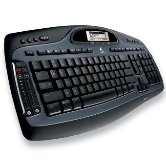 Logitech Cordless Desktop MX 5000 Laser, UK Tastatur Bluetooth - Tastaturen (UK, Kabellos, Bluetooth, Maus enthalten) -