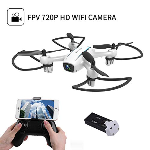 Cellstar Drone with HD Camera RC Quadcopter 720P WIFI Remote Control 2.4G 4CH 6 Axis APP Support FPV Camera 120° Live Video Altitude Hold for Enthusiasts