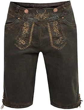 Hangowear Jeans-Lederhose Martin in Dunkelblraun