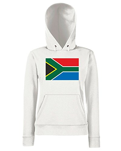 T-Shirtshock - Sweats a capuche Femme TM0243 South Africa flag Blanc
