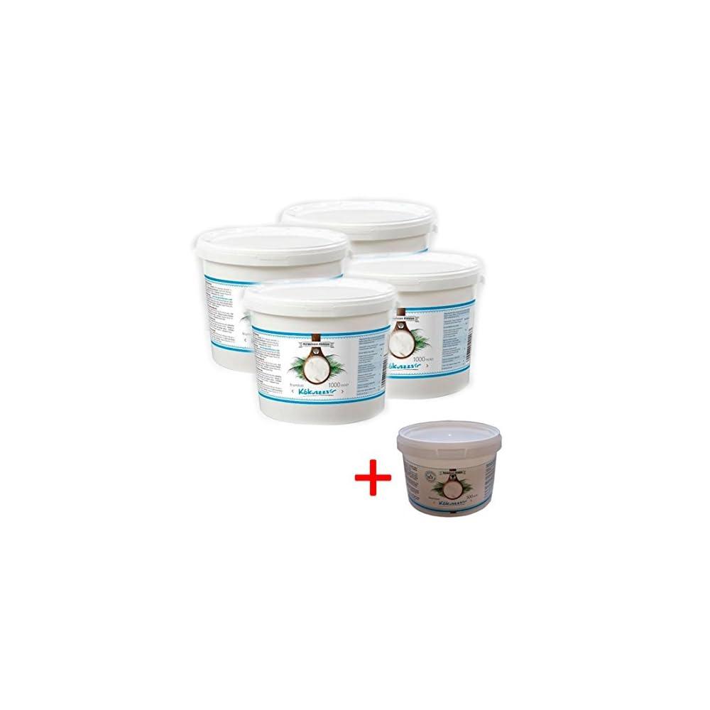 Kokosfett Kokosl 4x1000ml Raffiniert Und Desodoriert Gratis Kokosl 500ml