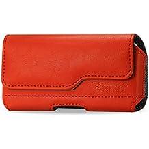 Reiko HP115C IPHONE5PLORG-Couvercle-Z Étui Horizontal en cuir pour iPhone 5 Orange