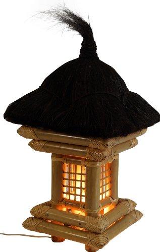 Guru-Shop Bali Gartenleuchte Inkl Outdoor Kabel - Modell 2, Holz, 60x30x30 cm, Outdoorlights Gartenleuchten