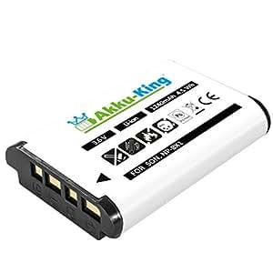 Akku-King Batterie pour Sony HDR-CX240 HD, HDR-AS10, HDR-AS100VR, Cyber-shot DSC-HX50, HX300, HX60, RX100 - remplace NP-BX1 - Li-Ion 1240 mAh